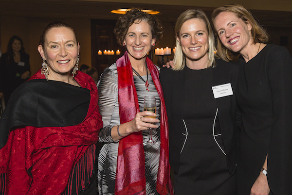 Tracey Habron (Gala Dinner organising committee), Susan Sly (Leuer), Sara Williams (Datacom), Deirdre Diamante (Co-founder #TechDiversity)