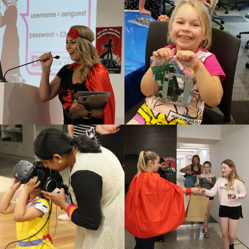 Diverse City Careers Superhero Daughter Day